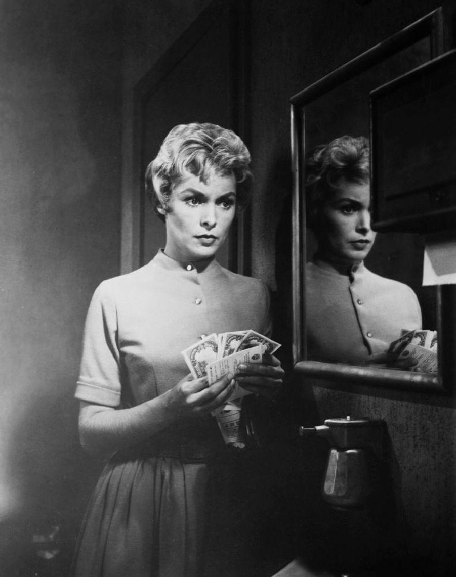 Janet Leigh sur le tournage de « Psychose », en 1960.