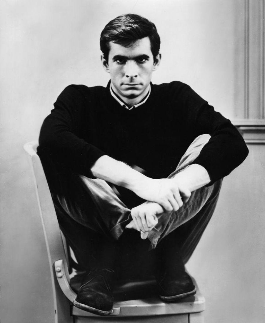 Anthony Perkinssur le tournage de « Psychose », en 1960.