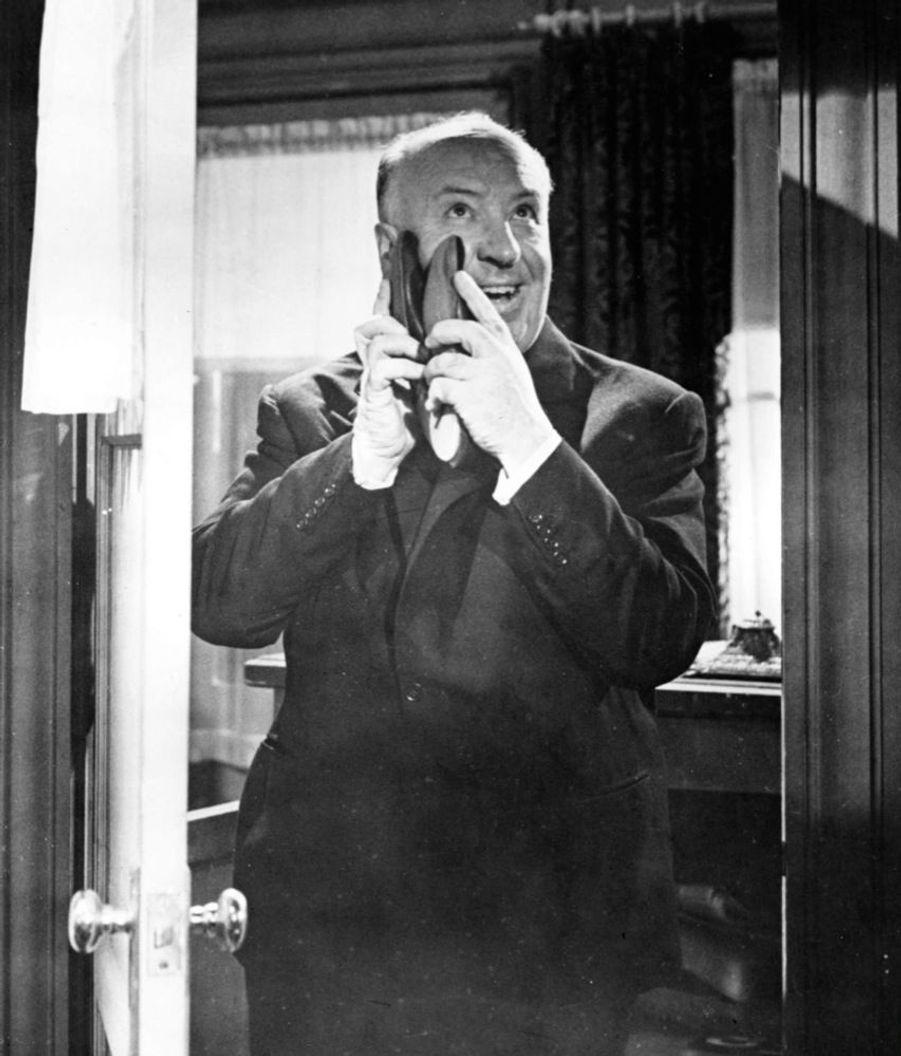 Alfred Hitchcock sur le tournage de « Psychose », en 1960.