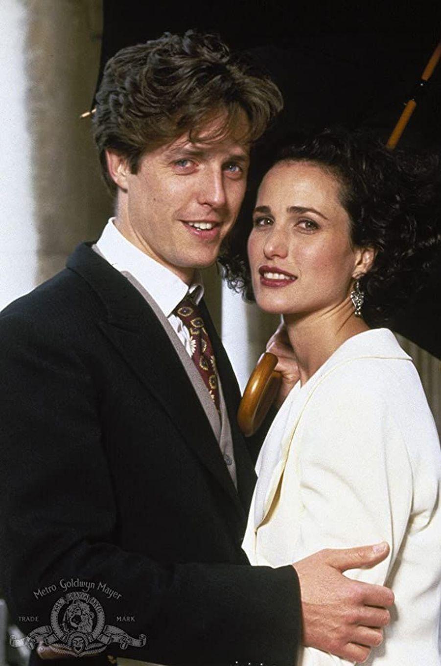 Hugh Grant etAndie MacDowell dans«Quatre mariages et un enterrement» en 1994.