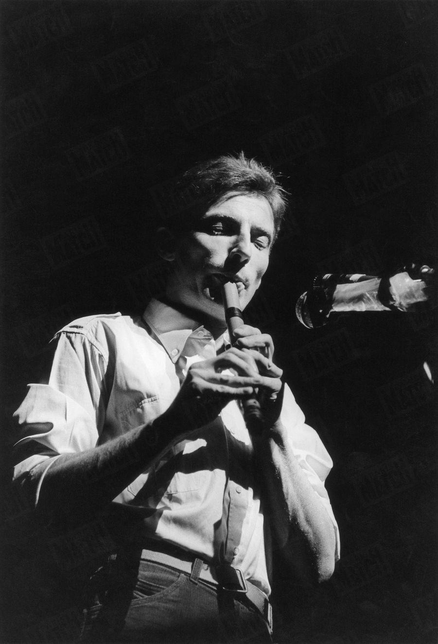 Hugues Aufray à l'Olympia en décembre 1964.