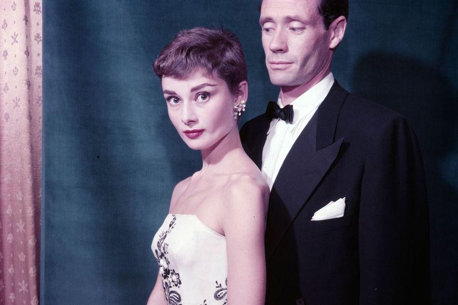 Audrey Hepburn et son mari Mel Ferrer en 1956