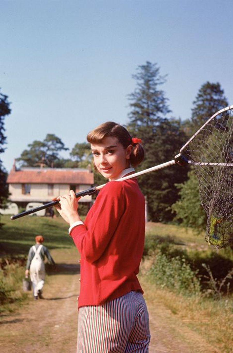 """Sur le tournage du film """"L'amour l'après midi"""", 1957"""