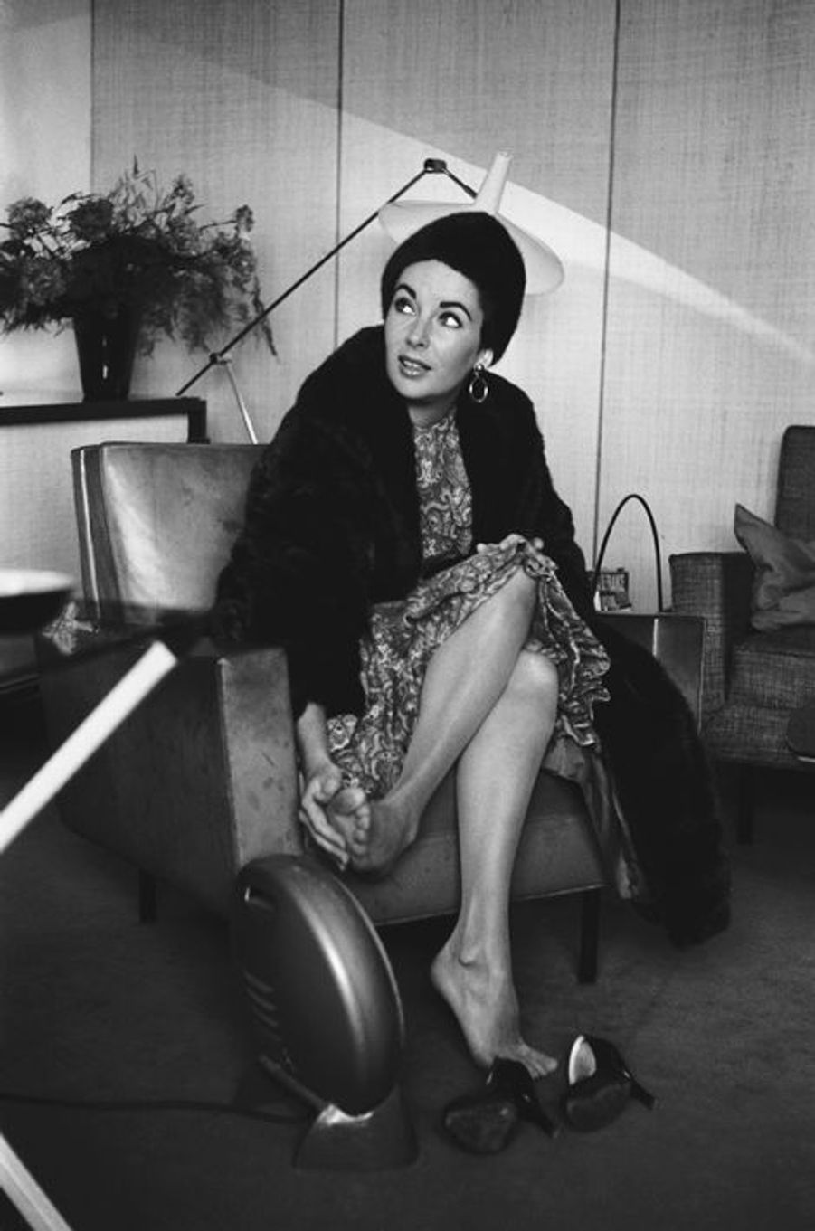 Elizabeth Taylor à Paris, le 23 janvier 1958