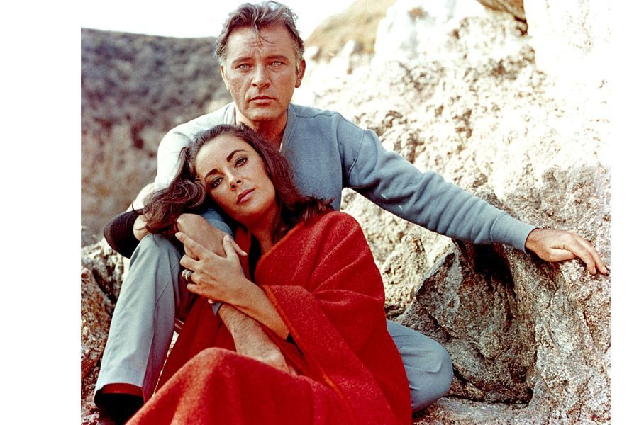 Elizabeth Taylor et Richard Burton en 1965
