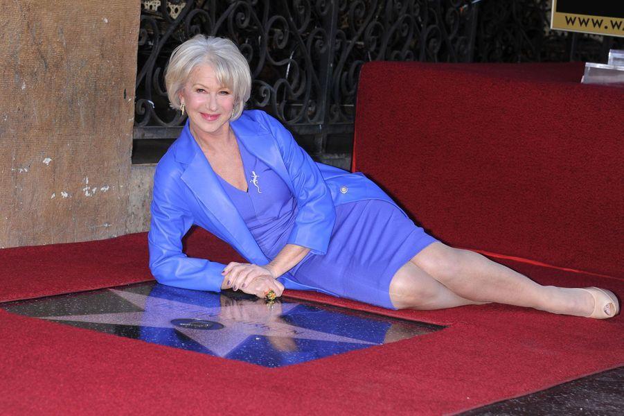 "Helen Mirren sur le ""Walk of Fame"", janvier 2013"