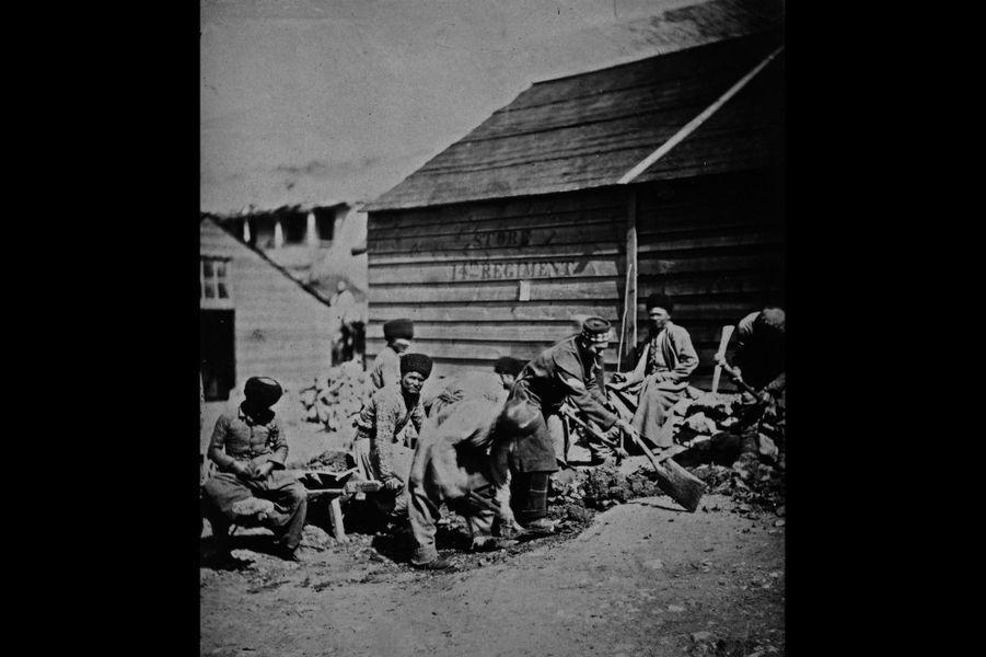 Des travailleurs tatars au sein du camp britannique