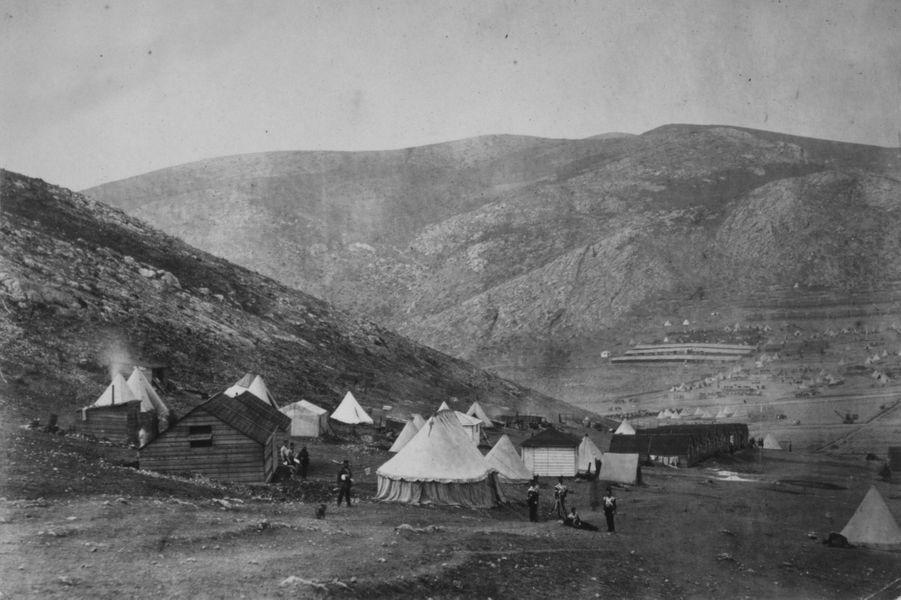 En 1855, le camp de l'infanterie britannique à Balaklava