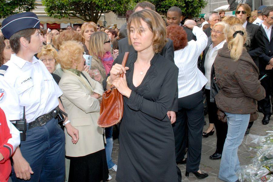 Alexia Laroche-Joubert, le jour des funérailles de Grégory Lemarchal