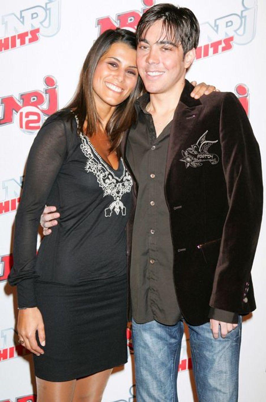 Karine Ferri et Grégory Lemarchal en mars 2007, au lancement de la chaîne NRJ12