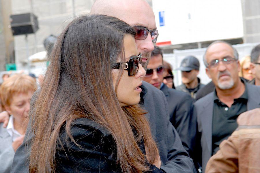 Karine Ferri, le jour des funérailles de Grégory Lemarchal