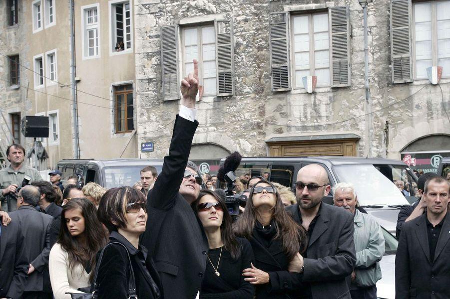 Les funérailles de Grégory Lemarchal, le 3 mai 2007 à Chambéry