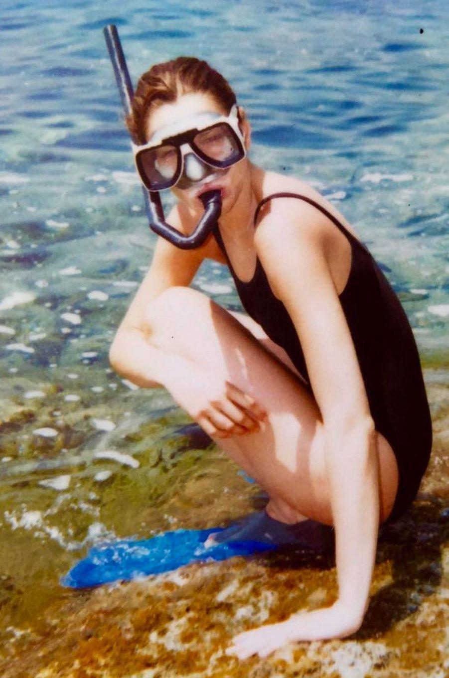 Carla Bruni à la plage