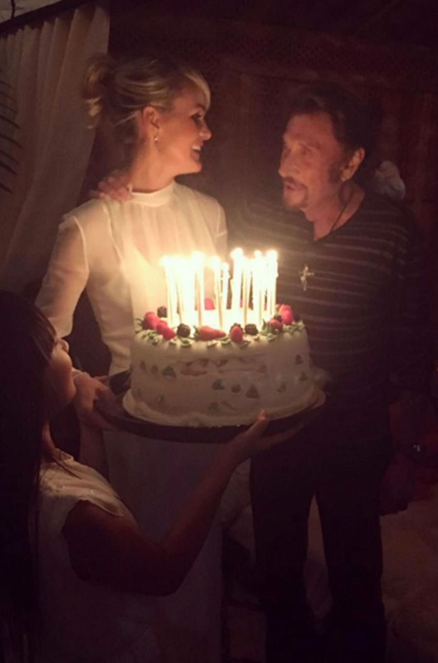 Laeticia Hallyday souhaite un joyeux anniversaire à son mari Johnny Hallyday