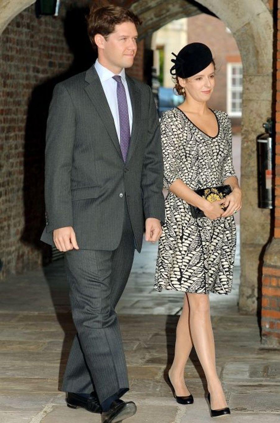 Emilia Jardine-Paterson, marraine, et son mari David