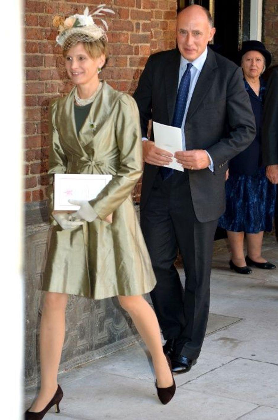 Jamie Lowther-Pinkerton, parrain, et son épouse