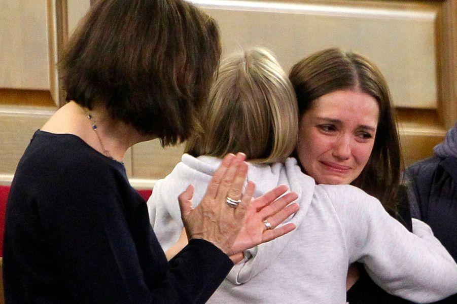 Evguenia Timochenko, lors du vote qui va libérer sa mère