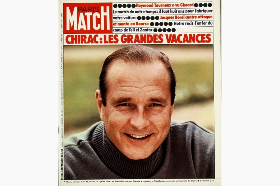 Jacques Chirac en couverture de Paris Match, le 4 septembre 1976.