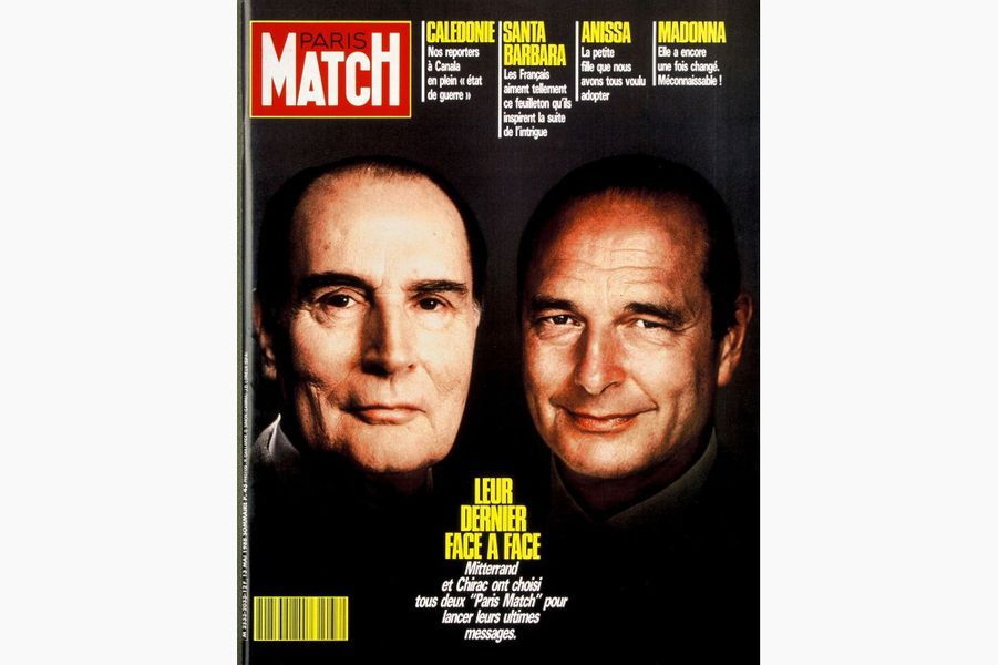 Jacques Chirac en couverture de Paris Match, le 13 mai 1988.
