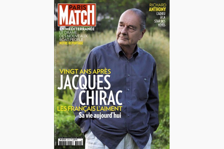 Jacques Chirac en couverture de Paris Match, le 23 avril 2015.