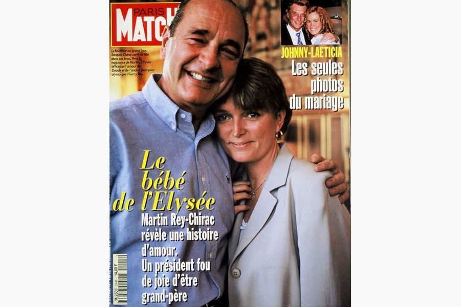 Jacques Chirac en couverture de Paris Match, le 4 avril 1996.