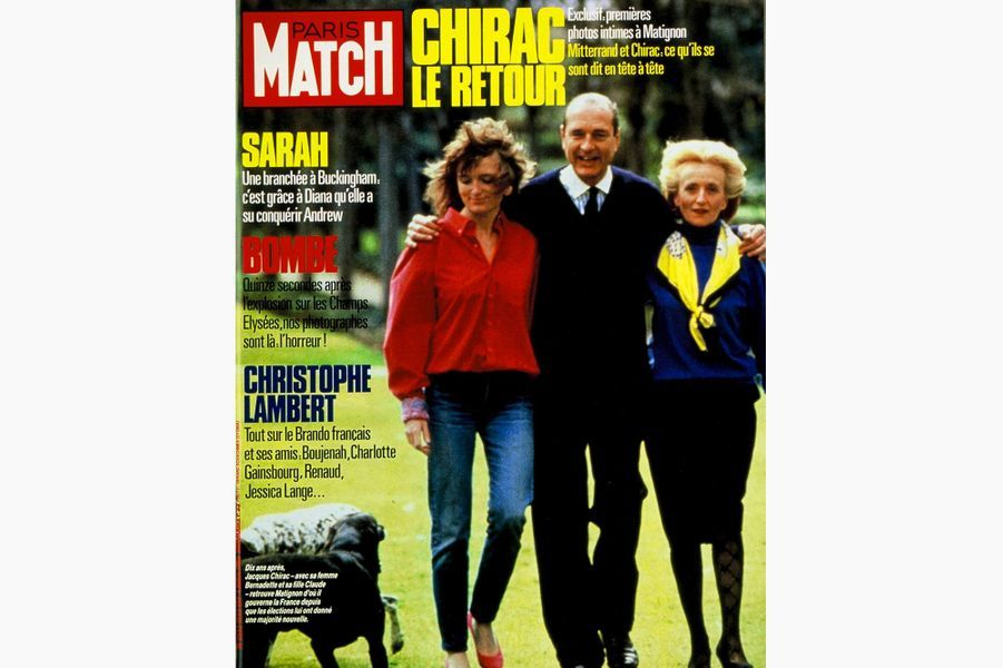 Jacques Chirac en couverture de Paris Match, le 4 avril 1986.