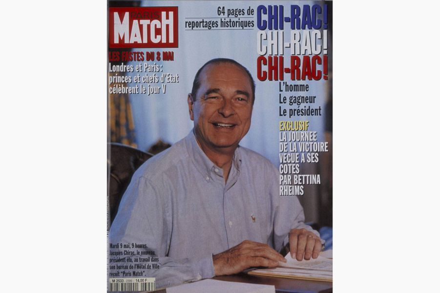 Jacques Chirac en couverture de Paris Match, le 18 mai 1995.