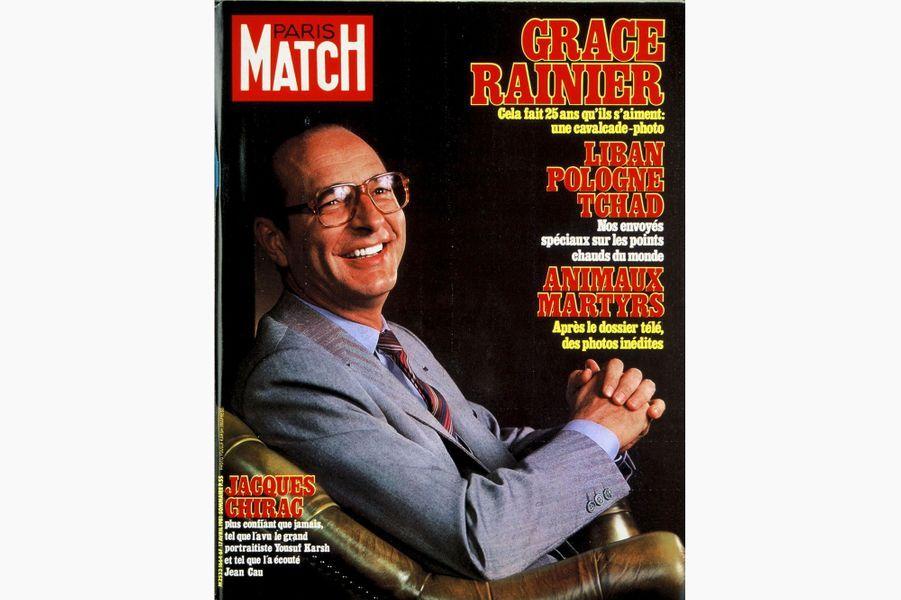 Jacques Chirac en couverture de Paris Match, le 17 avril 1981.