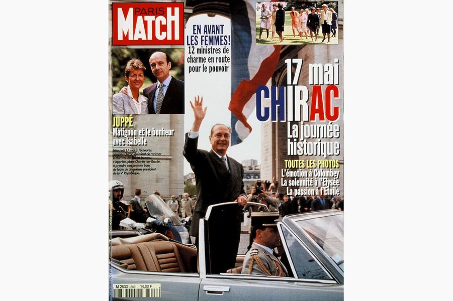 Jacques Chirac en couverture de Paris Match, le 1er juin 1995.