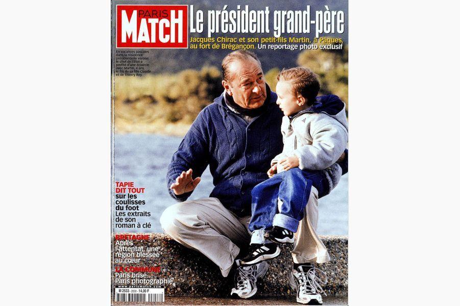 Jacques Chirac en couverture de Paris Match, le 4 mai 2000.