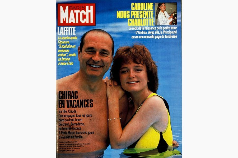 Jacques Chirac en couverture de Paris Match, le 15 août 1986.