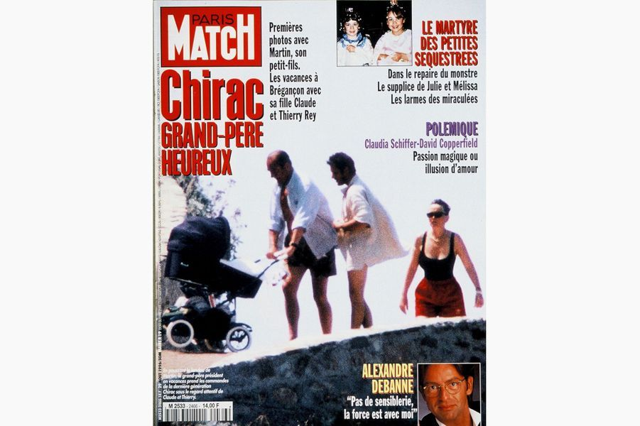 Jacques Chirac en couverture de Paris Match, le 29 août 1996.