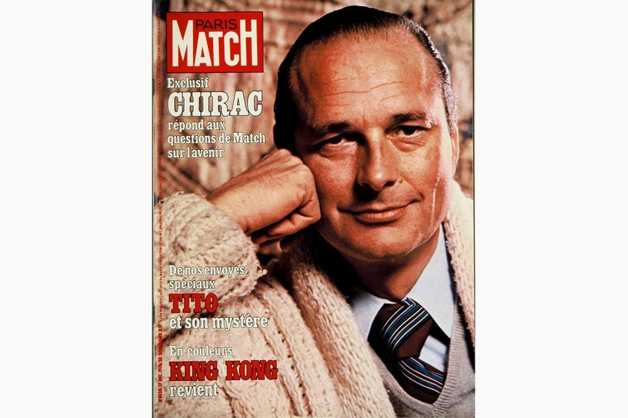 Jacques Chirac en couverture de Paris Match, le 17 décembre 1976.