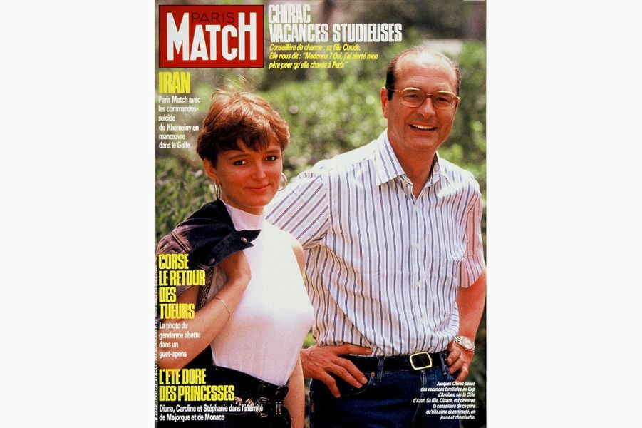 Jacques Chirac en couverture de Paris Match, le 21 août 1987.