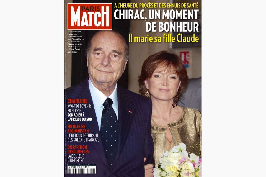 Jacques Chirac en couverture de Paris Match, le 17 février 2011.