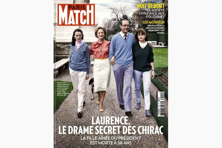 Jacques Chirac en couverture de Paris Match, le 20 avril 2016.