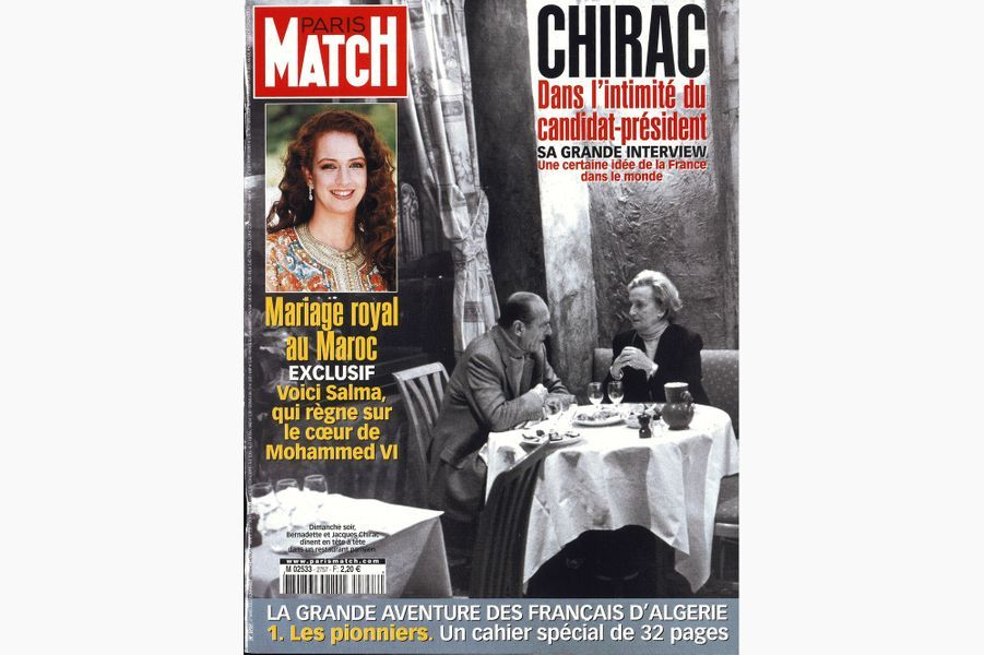 Jacques Chirac en couverture de Paris Match, le 28 mars 2002.