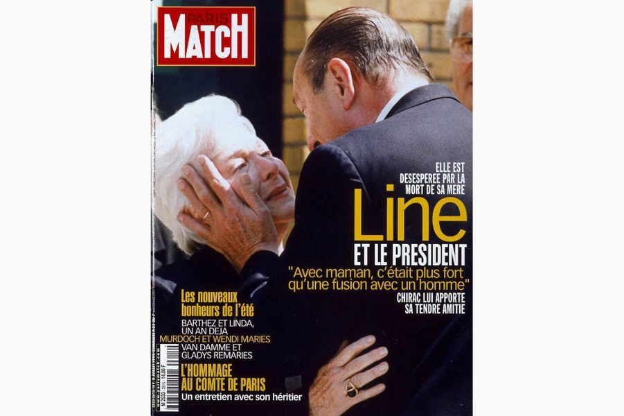 Jacques Chirac en couverture de Paris Match, le 8 juillet 1999.