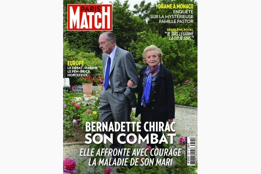 Jacques Chirac en couverture de Paris Match, le 15 mai 2014.