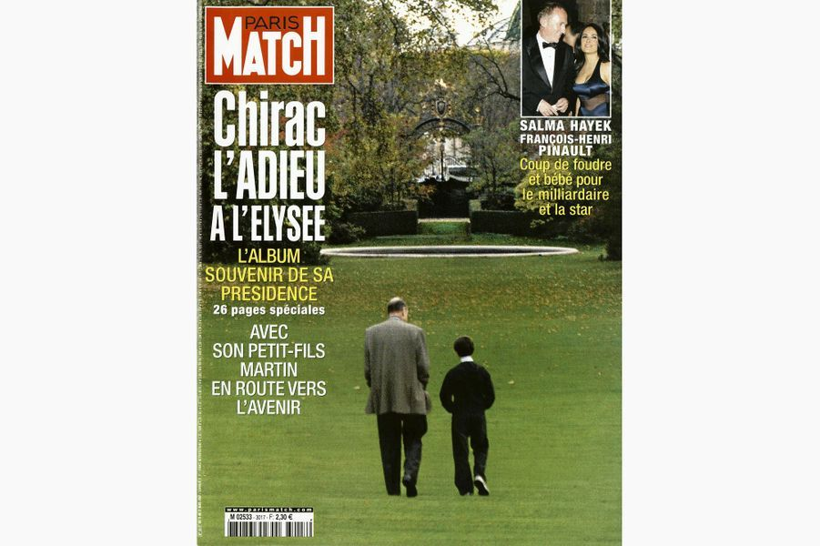 Jacques Chirac en couverture de Paris Match, le 15 mars 2007.