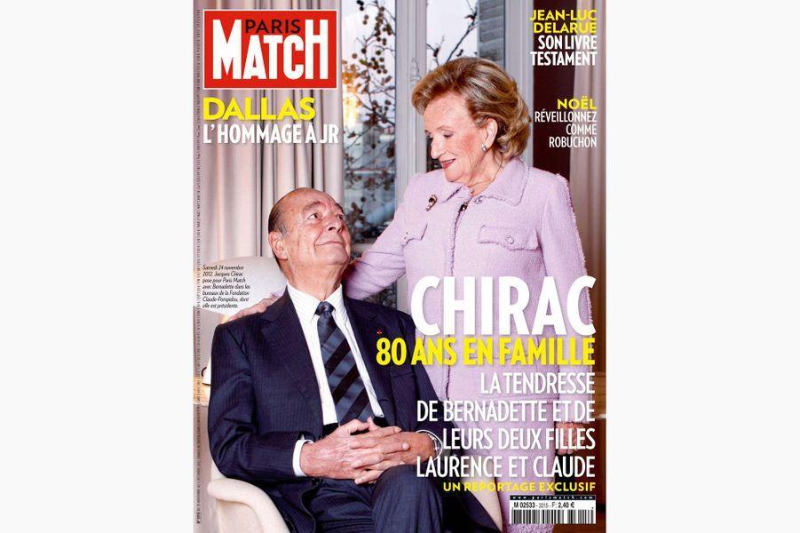Jacques Chirac en couverture de Paris Match, le 29 novembre 2012.
