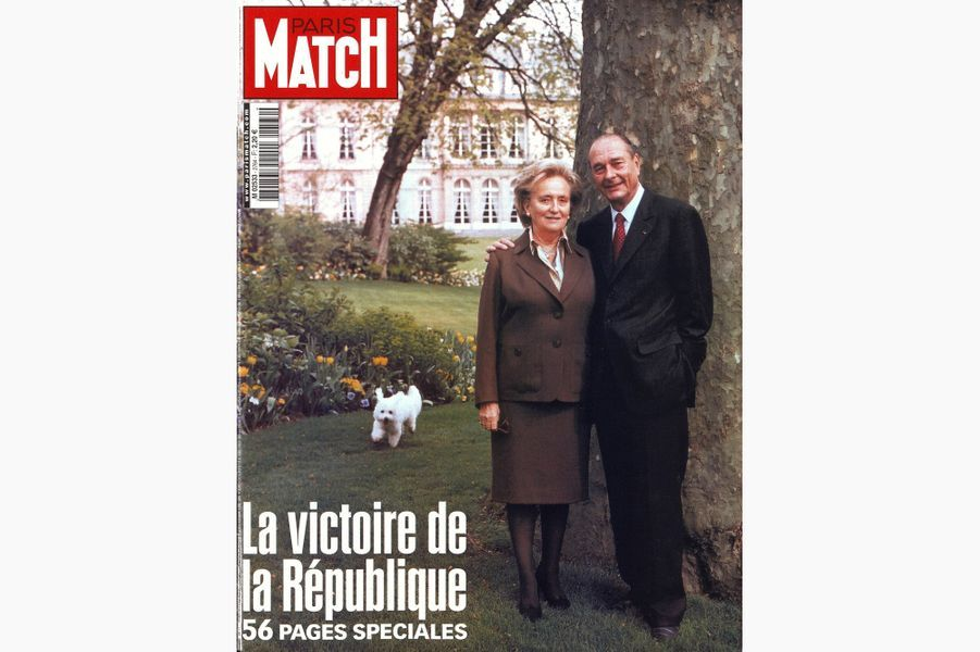 Jacques Chirac en couverture de Paris Match, le 16 mai 2002.