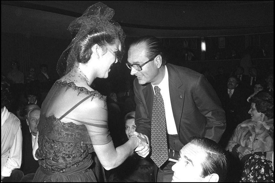 Jacques Chirac avec Caroline de Monaco au Palace, en 1978.