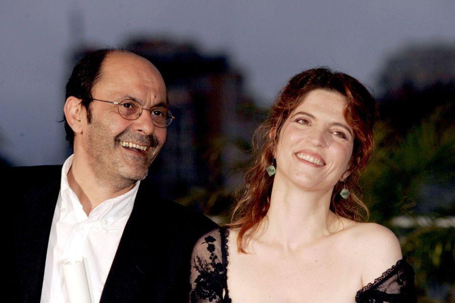 Jean-Pierre Bacri et Agnès Jaoui, Prix du scénario au Festival de Cannes pour « Comme une image », en mai 2004.