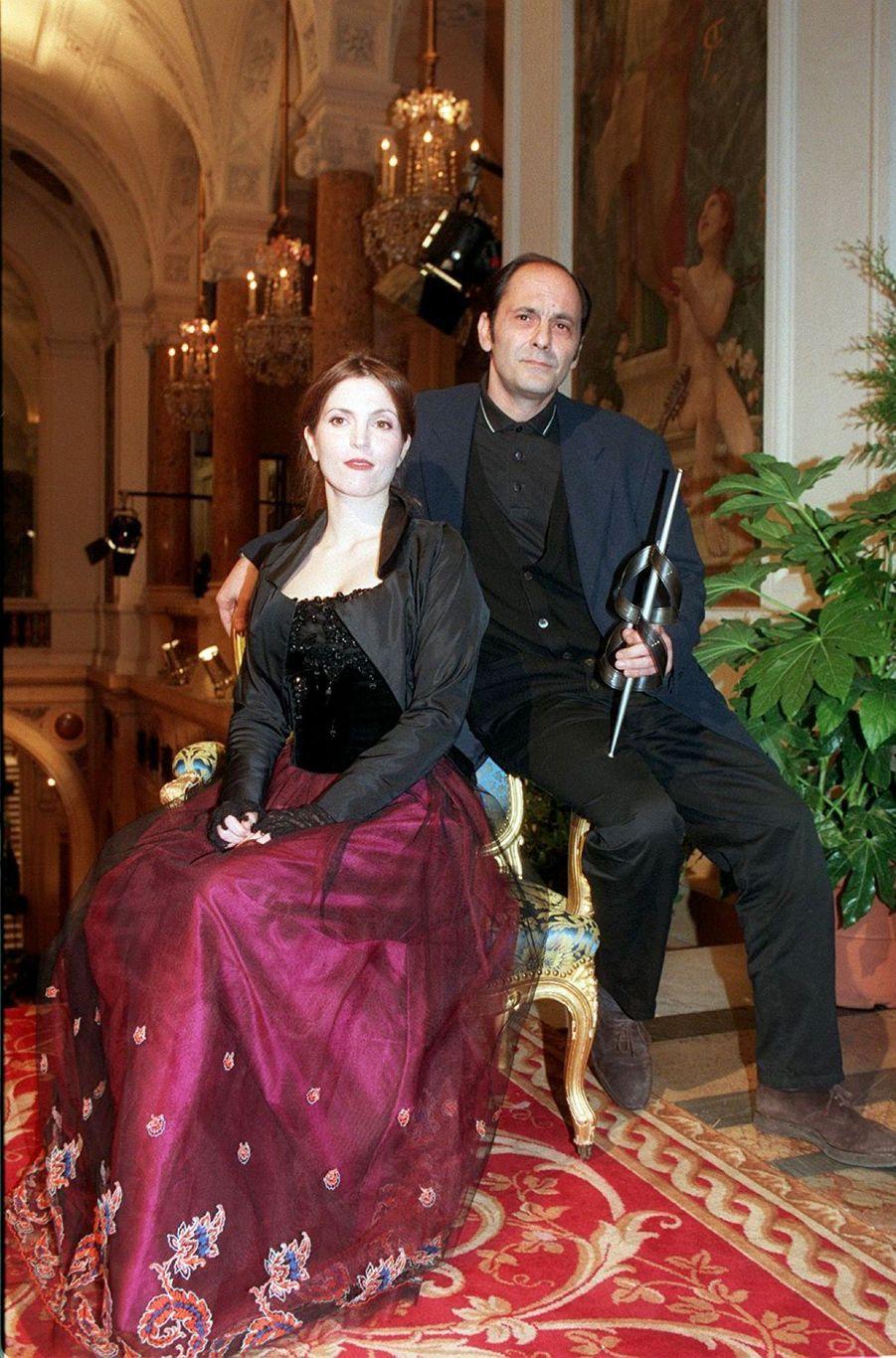 Jean-Pierre Bacri et Agnès Jaoui, Prix Lumière du meilleur scénario pour « Un air de famille », en 1997.