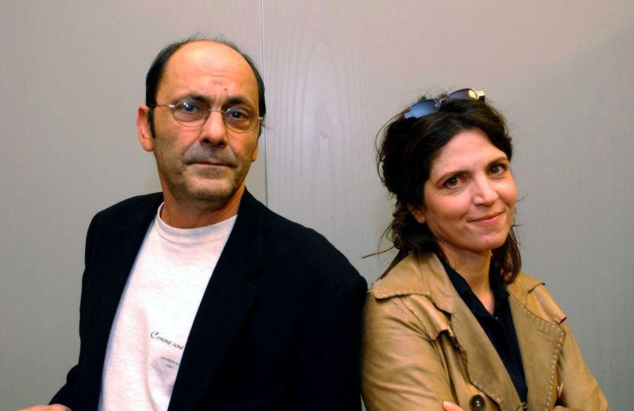 Jean-Pierre Bacri et Agnès Jaoui lors de la première de « Comme une image » à Lille, en septembre 2004.