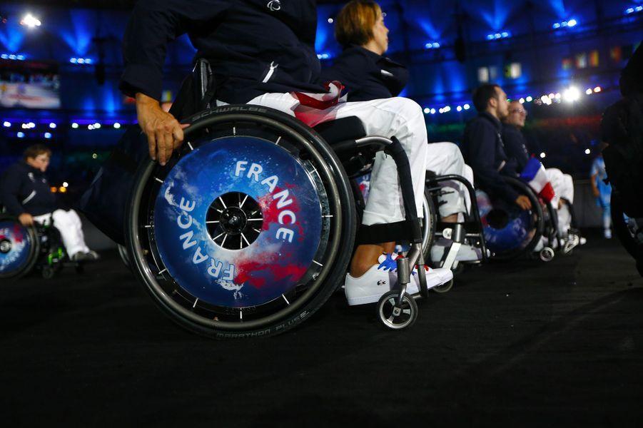 La délégation française lors de la cérémonie d'ouverture des Jeux paralympiques