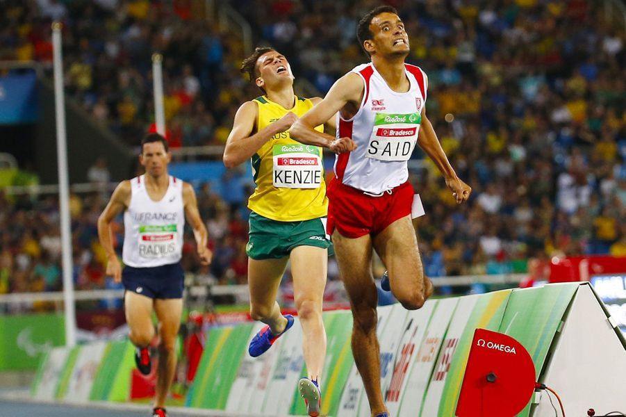 Louis Radius est arrivé 3e sur 1500 mètres T38