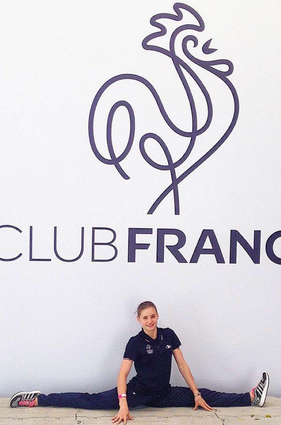 La gymnaste Anne Kuhm au club France