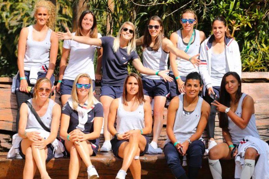 Les footballeuses française à Rio